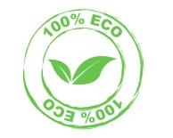 logo 100% eco vettoriale